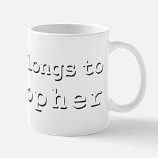 My Heart Belongs To Cristopher Mug
