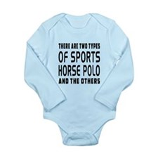Horse Polo Designs Long Sleeve Infant Bodysuit