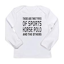 Horse Polo Designs Long Sleeve Infant T-Shirt