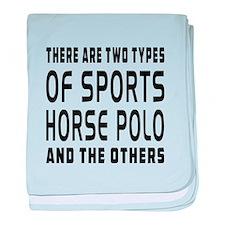Horse Polo Designs baby blanket