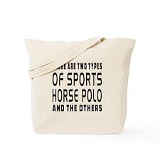 Horse Polo Designs Tote Bag