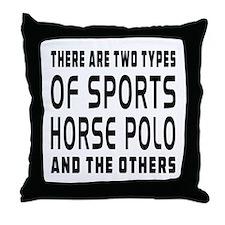 Horse Polo Designs Throw Pillow