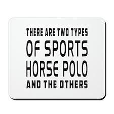 Horse Polo Designs Mousepad
