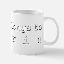 My Heart Belongs To Darrin Small Small Mug
