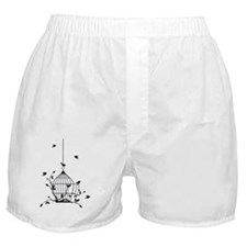 Free birds with open birdcage Boxer Shorts