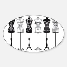 Vintage fashion mannequins silhouet Decal