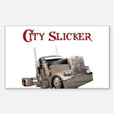 City Slicker Rectangle Decal