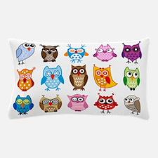 Colorful cute owls Pillow Case