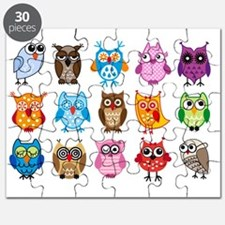 Colorful cute owls Puzzle
