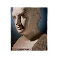Phrenology bust by L.N. Fowler Throw Blanket
