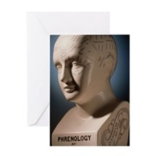 Phrenology bust by L.N. Fowler Greeting Card