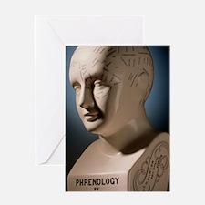 Phrenology bust by L.N. Fowler Greeting Card