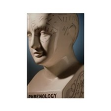 Phrenology bust by L.N. Fowler Rectangle Magnet