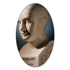 Phrenology bust by L.N. Fowler Decal
