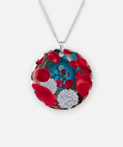Red and white blood cells Necklace