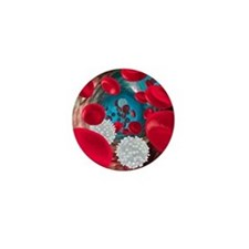 Red and white blood cells Mini Button