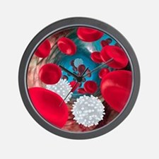 Red and white blood cells Wall Clock