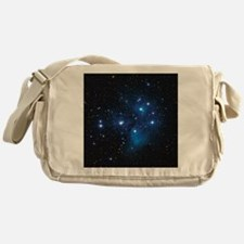 Pleiades star cluster Messenger Bag