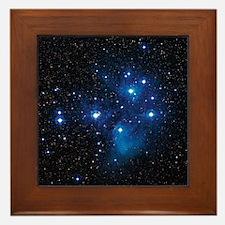 Pleiades star cluster Framed Tile