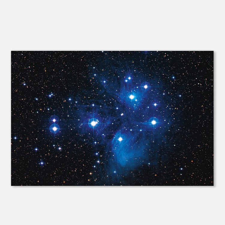 Pleiades star cluster Postcards (Package of 8)