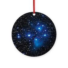 Pleiades star cluster Round Ornament
