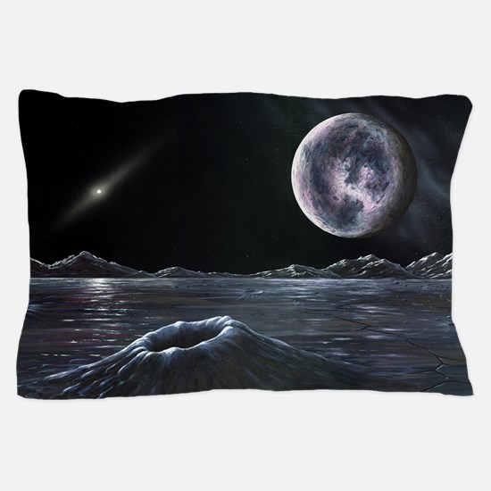 Pluto seen from Charon, artwork Pillow Case