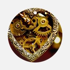 Clockwork Heart Round Ornament