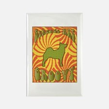 Groovy Buhunds Rectangle Magnet (100 pack)