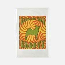 Groovy Buhunds Rectangle Magnet