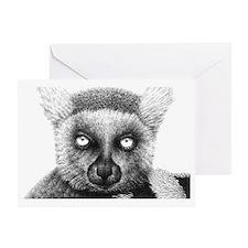 Ring-tailed Lemur Laptop Skin Greeting Card
