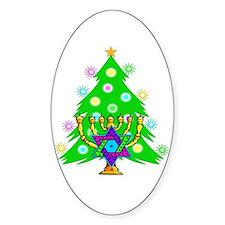 Christmas Hanukkah Interfaith Decal