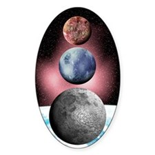 Sedna, Pluto and the Moon Decal