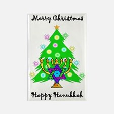Christmas Hanukkah Interfaith Rectangle Magnet
