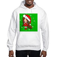 Lila Christmas Girl in Santa out Hoodie