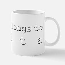 My Heart Belongs To Evita Mug