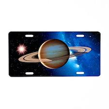 Saturn Aluminum License Plate