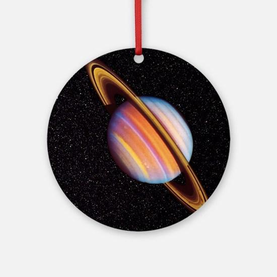 Saturn Round Ornament