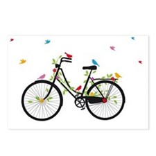 Old vintage bicycle with  Postcards (Package of 8)