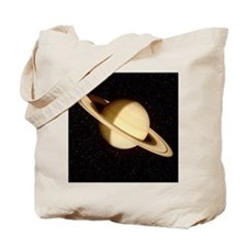 Saturn on a starfield Tote Bag