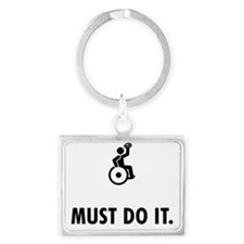 Wheelchair-Rugby-AAW1 Landscape Keychain