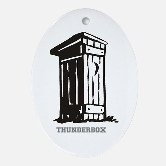 THUNDERBOX - DUNNY. Oval Ornament