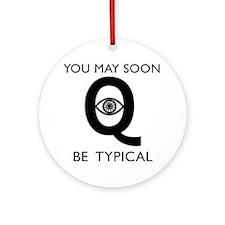 Quantum Eye Round Ornament