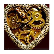 Clockwork Heart 10x10 Tile Coaster