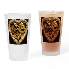 Clockwork Heart 10x10 Drinking Glass