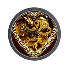 Clockwork Heart 10x10 Wall Clock