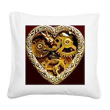 Clockwork Heart 10x10 Square Canvas Pillow
