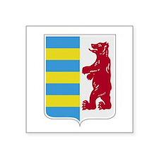 "Rusyn Emblem (car flag) Square Sticker 3"" x 3"""