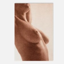 Side view of the naked to Postcards (Package of 8)