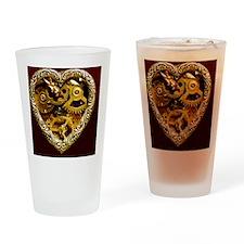 Clockwork Heart sleeve Drinking Glass