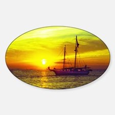 key west at sunset Decal